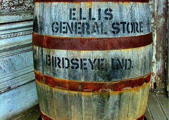 Old Barrels Greeting Card featuring the photograph Cheap Advertisement by Julie Dant