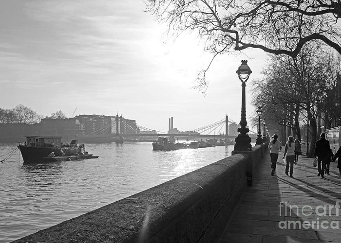 Chelsea Greeting Card featuring the photograph Chelsea Embankment London Uk 3 by Julia Gavin