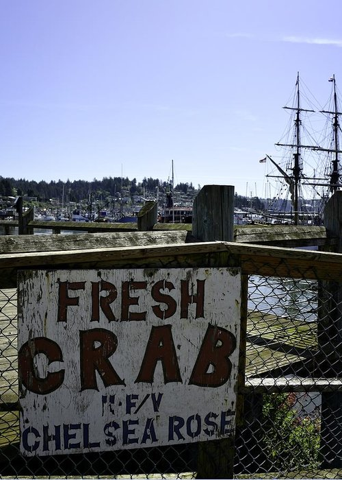 Newport Greeting Card featuring the photograph Chelsea Rose Crab by Image Takers Photography LLC - Carol Haddon