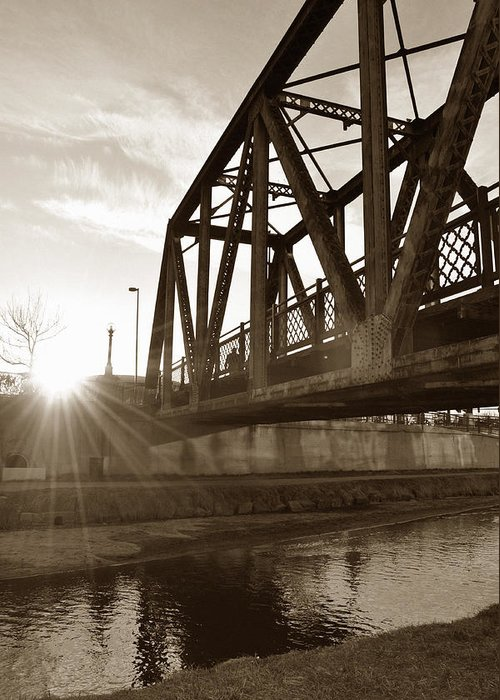 River Greeting Card featuring the photograph Cherry Creek Trestle by Todd Hartzo