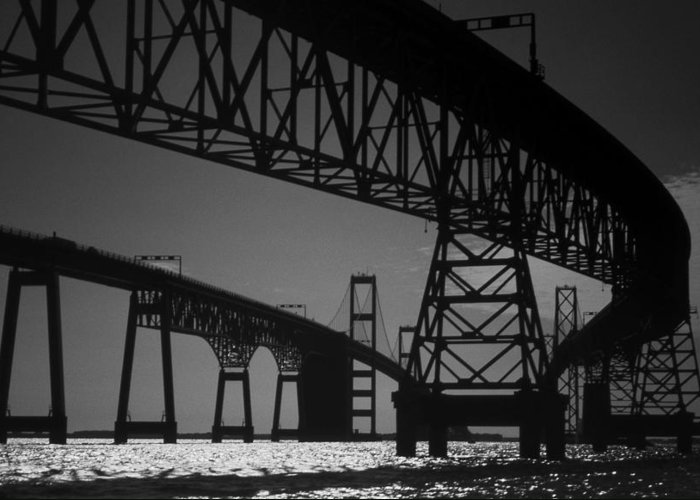 Md Greeting Card featuring the photograph Chesapeake Bay Bridge At Annapolis by Skip Willits