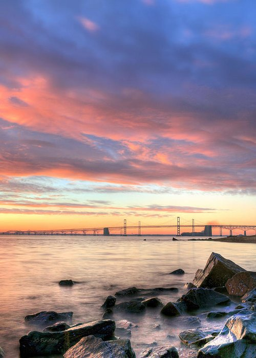 Chesapeake Bay Greeting Card featuring the photograph Chesapeake Mornings by JC Findley