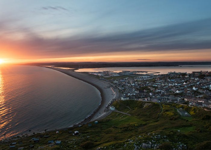 Europe Greeting Card featuring the photograph Chesil Beach Sunset by Ollie Taylor