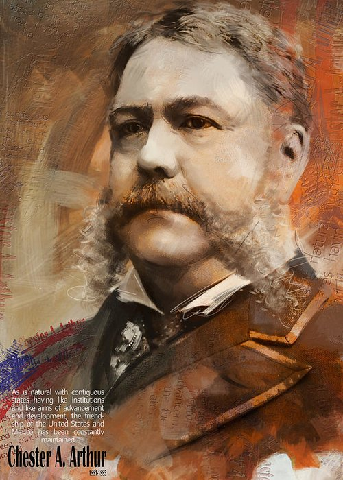 Chester A. Arthur Greeting Card featuring the painting Chester A. Arthur by Corporate Art Task Force