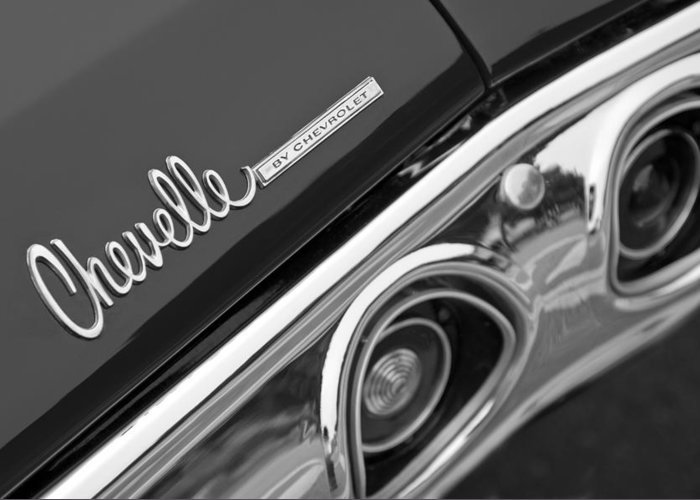 Chevrolet Chevelle Ss Taillight Emblem Greeting Card featuring the photograph Chevrolet Chevelle Ss Taillight Emblem by Jill Reger