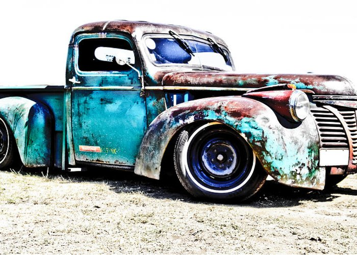Chev Pickup Greeting Card featuring the photograph Chevrolet Pickup by Phil 'motography' Clark
