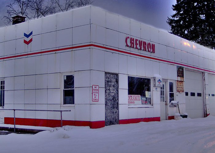 Chevron Greeting Card featuring the photograph Chevron Lowville Ny by Dennis Comins