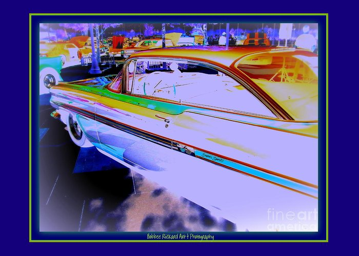 Chevy Greeting Card featuring the photograph Chevy Psycho Delic by Bobbee Rickard