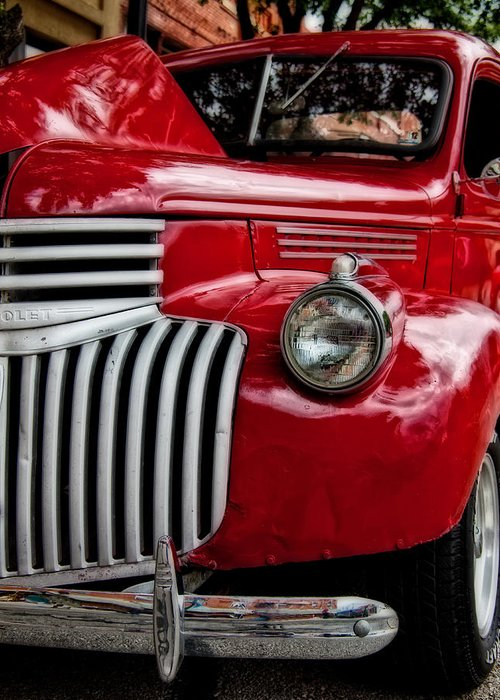 Classic Car Greeting Card featuring the photograph Chevy Truck - 2 by Mark Alder