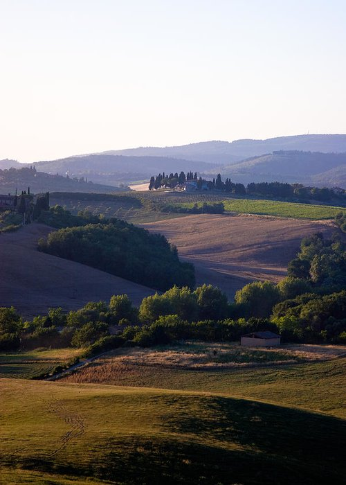 Italy Greeting Card featuring the photograph Chianti Hills In Tuscany by Mathew Lodge