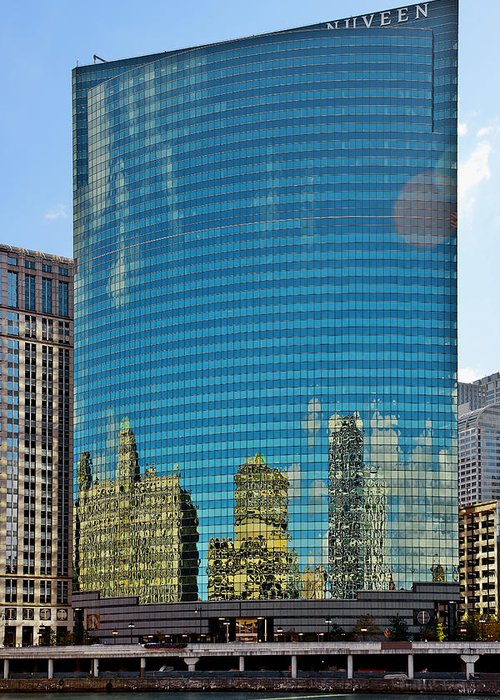 Chicago Greeting Card featuring the photograph Chicago - 333 West Wacker Drive by Christine Till