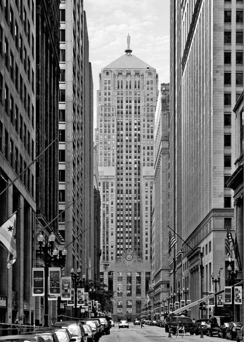 Cbot Greeting Card featuring the photograph Chicago Board Of Trade by Christine Till