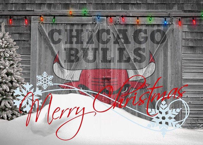 Bulls Greeting Card featuring the photograph Chicago Bulls by Joe Hamilton