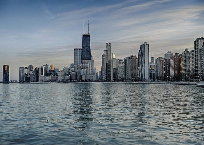 Chicago Greeting Card featuring the photograph Chicago Coast by Donald Schwartz