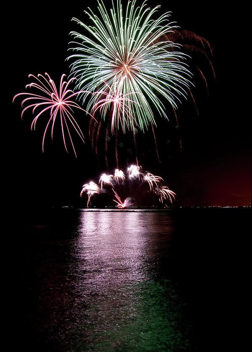 Lake Michigan Greeting Card featuring the photograph Chicago Fireworks by 400tmax