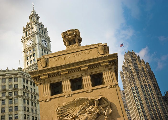 Relief Carving Greeting Card featuring the photograph Chicago by Jmsilva