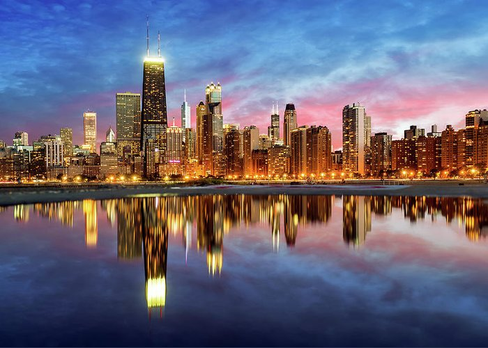 Tranquility Greeting Card featuring the photograph Chicago by Joe Daniel Price