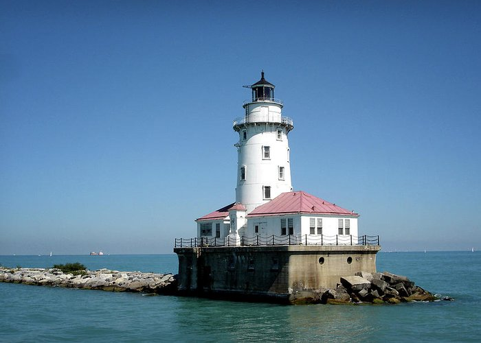 Chicago Greeting Card featuring the photograph Chicago Lighthouse by Julie Palencia