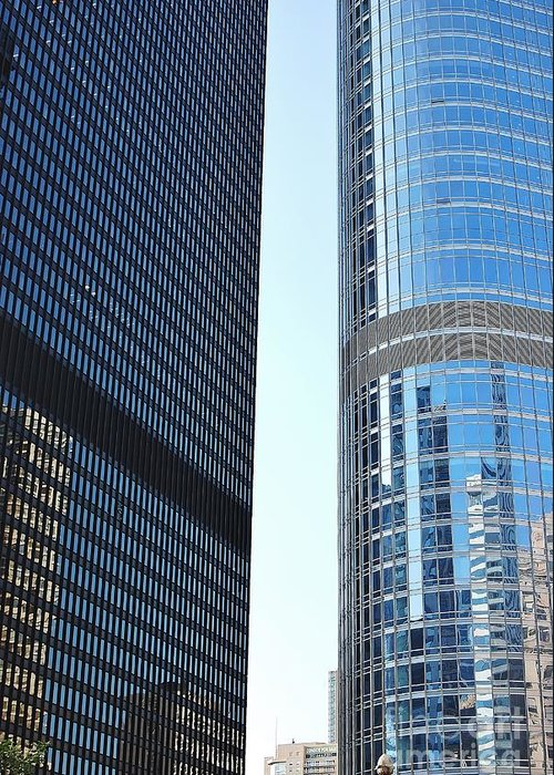 City Greeting Card featuring the photograph Chicago Photography - Urban Abstract by Gene Mark