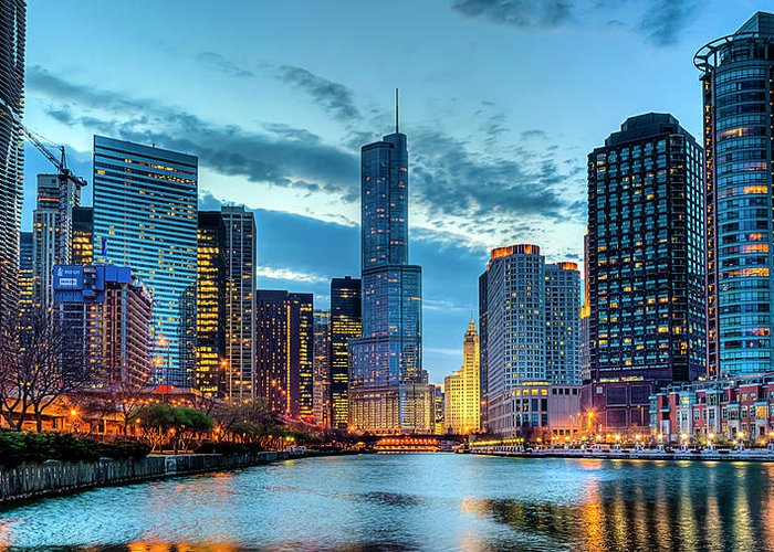 Tranquility Greeting Card featuring the photograph Chicago River by Carl Larson Photography