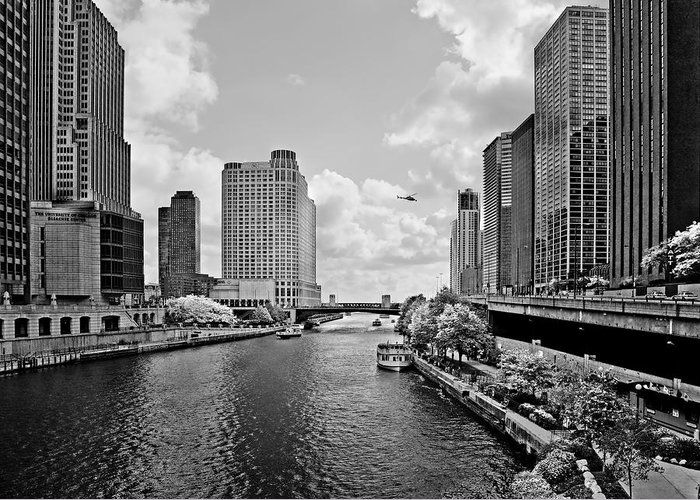 Chicago Greeting Card featuring the photograph Chicago River - The River That Flows Backwards by Christine Till