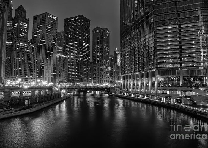 Chicago Greeting Card featuring the photograph Chicago Riverwalk by Eddie Yerkish