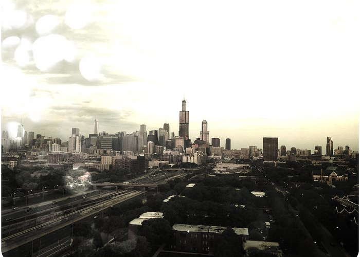 Chicago Greeting Card featuring the photograph Chicago Skyline by Mike Maher