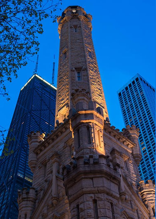 Chicago Greeting Card featuring the photograph Chicago Water Tower Panorama by Steve Gadomski