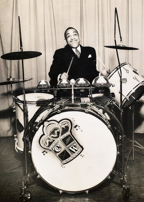 1930 Greeting Card featuring the photograph Chick Webb (1909-1939) by Granger