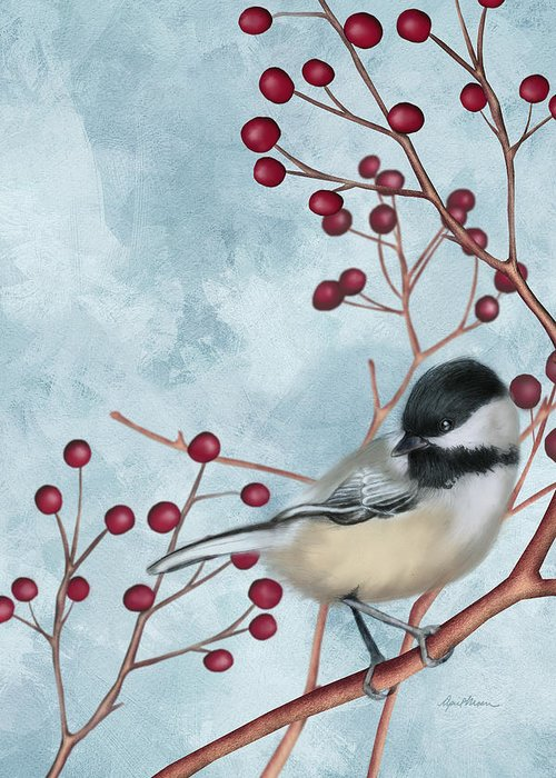 Black Capped Chickadee Greeting Cards