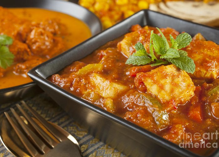 Chana Dhal Greeting Card featuring the photograph Chicken Jalfrezi Curry by Colin and Linda McKie