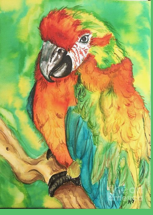 Nature Greeting Card featuring the painting Chico by Norma Gafford