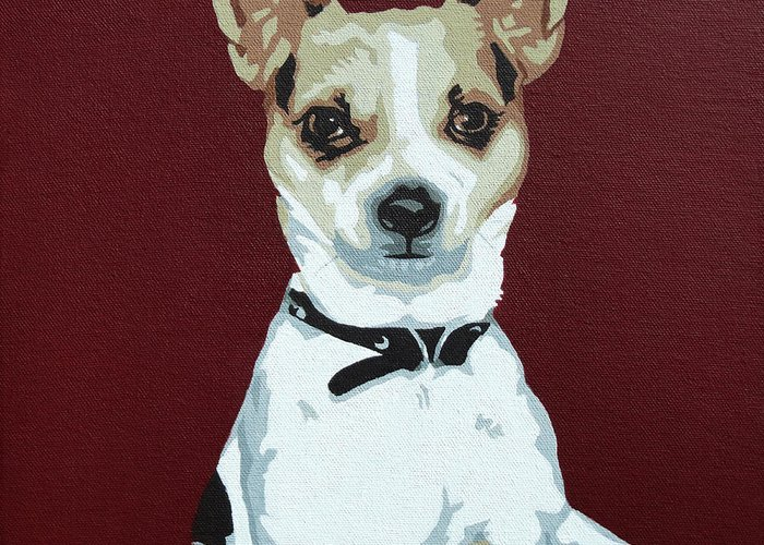 Chihuahua Greeting Card featuring the painting Chihuahua 2 by Slade Roberts