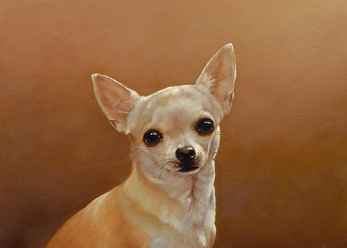 Chihuahua Greeting Card featuring the painting Chihuahua I by John Silver