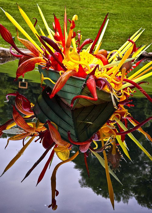 Cheekwood Greeting Card featuring the photograph Chihuly Float by Diana Powell