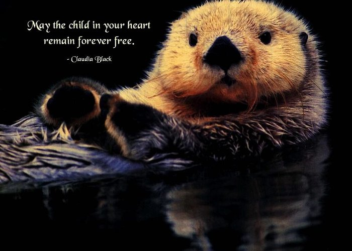 Quotation Greeting Card featuring the photograph Child In Your Heart by Mike Flynn