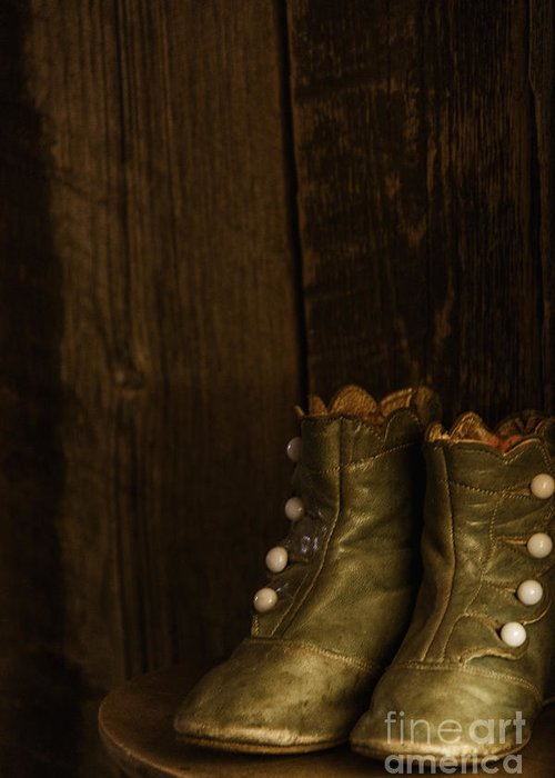Vintage Greeting Card featuring the photograph Children's Boots by Margie Hurwich