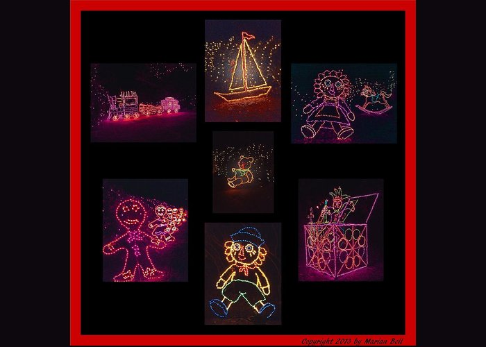 Digital Art Greeting Card featuring the photograph Children's Toys In Lights Poster 2 by Marian Bell