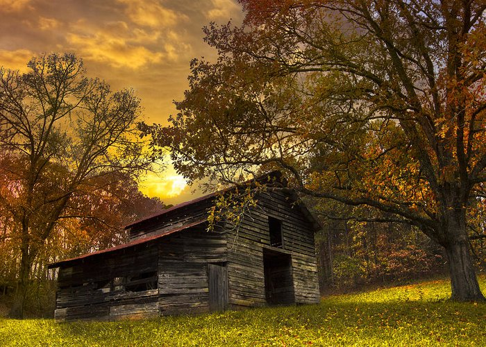 Appalachia Greeting Card featuring the photograph Chill Of An Early Fall by Debra and Dave Vanderlaan