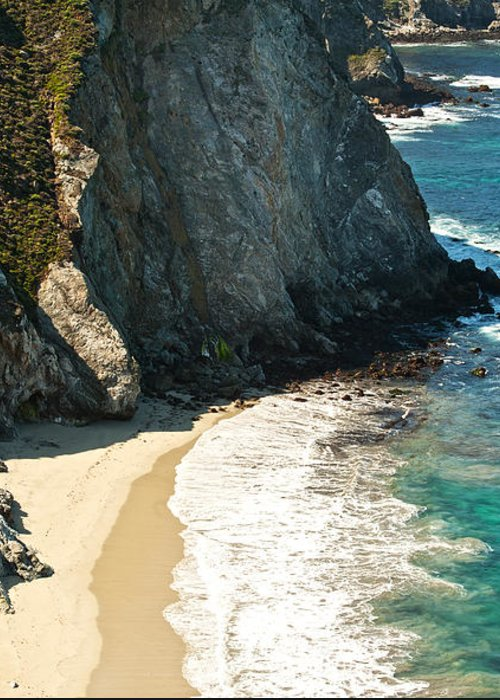Point Lobos Greeting Card featuring the photograph China Cove At Point Lobos State Beach by Artist and Photographer Laura Wrede