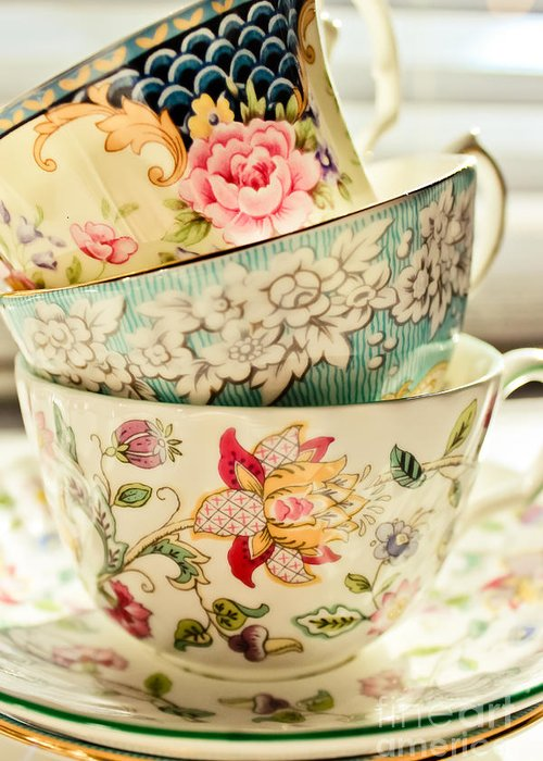Cup Photographs Greeting Cards