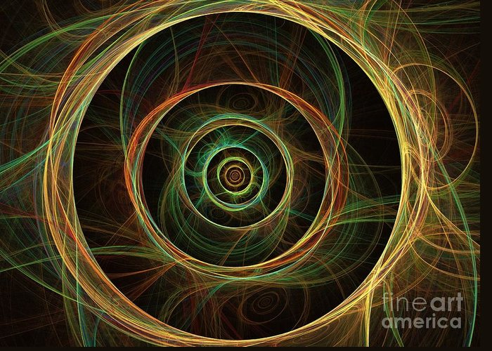 Apophysis Greeting Card featuring the digital art Chirality by Kim Sy Ok