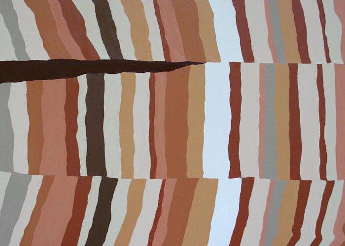 Abstract Greeting Card featuring the painting Chocolate Fault - Orig Sold by Paul Anderson