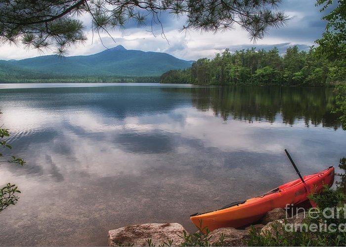 Greeting Card featuring the photograph Chocorua Lake by Scott Thorp