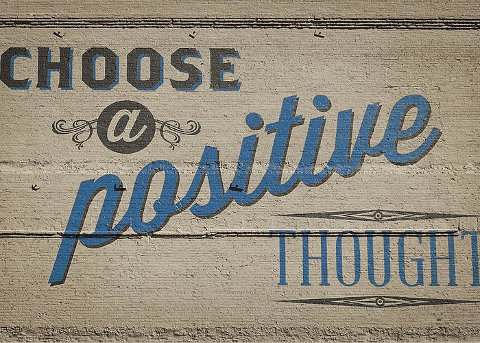 Positive-thoughts Greeting Cards