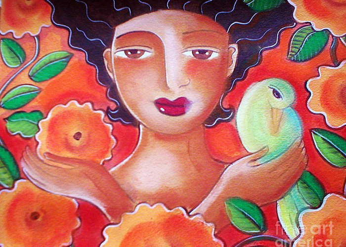 Tropical Greeting Card featuring the mixed media Choose for Reasons by Elaine Jackson