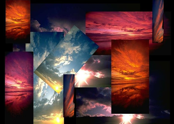 Sun Greeting Card featuring the digital art Choose Your Own Sunrise by Darryl Kravitz