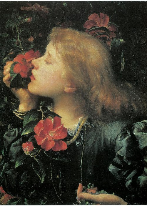 George Frederic Watts Greeting Card featuring the painting Choosing by George Frederic Watts