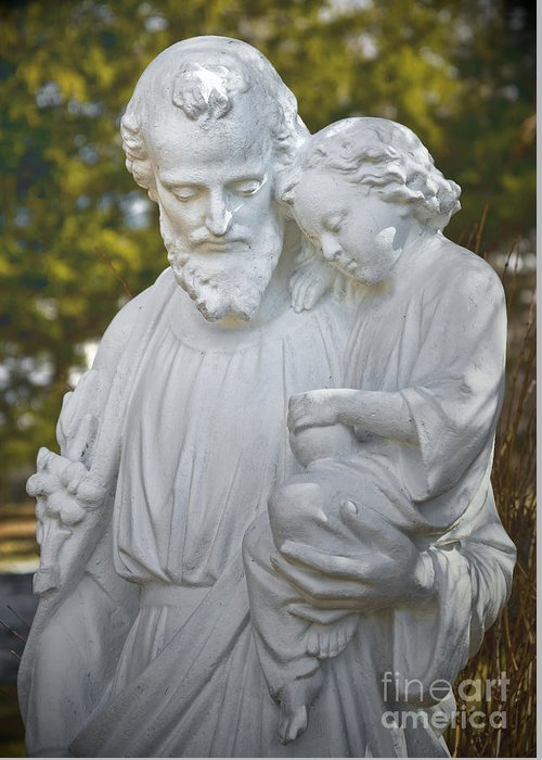 Religion Greeting Card featuring the photograph Christ With Child by Les Palenik