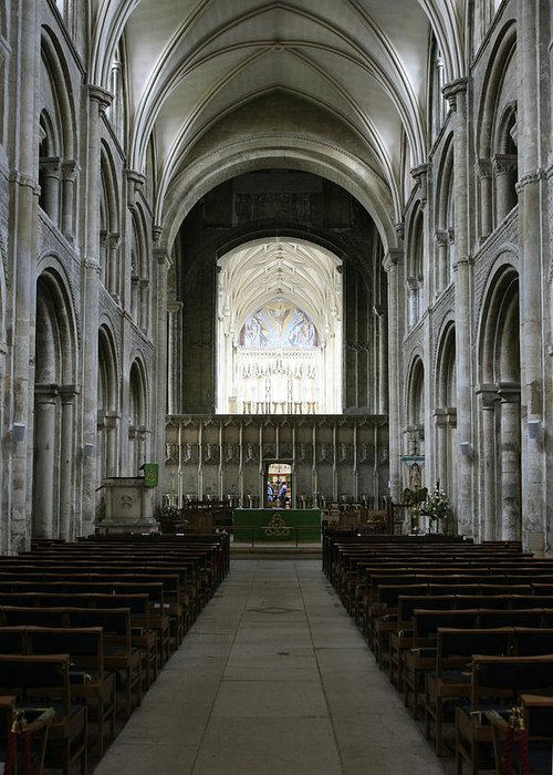 Nave Greeting Card featuring the photograph Christchurch Priory by Chris Smith